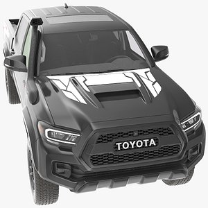 3D Toyota Tacoma TRD Pro Midnight Black Metallic 2021