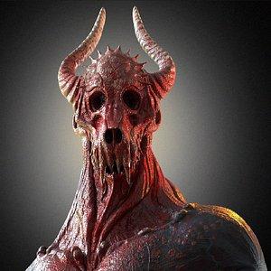 3D devil lucifer monster