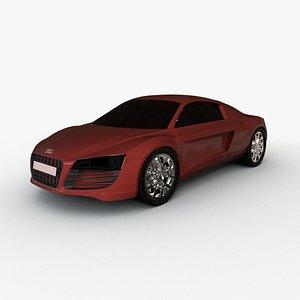 3D AUDI R8 2021 model