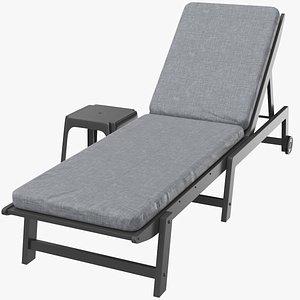 sun lounge lounger 3D model