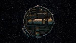 spaceship vehicle 3D model