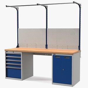 garage workbench work bench model