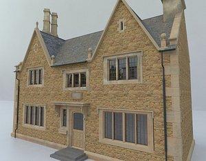 cottage house village 3D