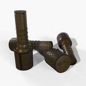 3D model RGD-33 Hand Grenade LowPoly PBR GameReady