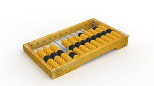 Wooden abacus 3D model