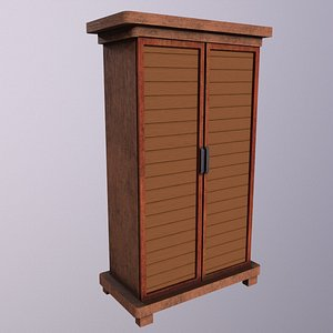 Cabinet Game Ready Low-Poly Low-poly 3D model 3D model