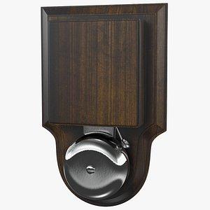 wired doorbell bell entry door 3D model