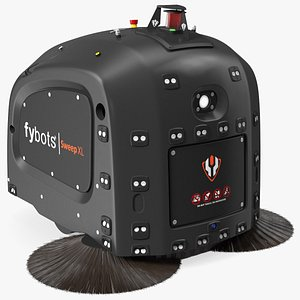 3D Fybots Sweep XL Smart Cleaning Robot model