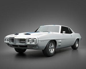 3D 1969 Pontiac Firebird Trans Am model