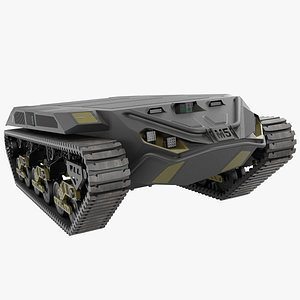 3D Ripsaw M5 Robotic Combat Vehicle Rigged