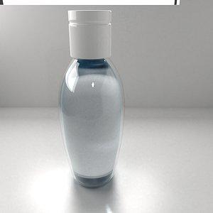 Hand Sanitizer Bottle with Liquid 3D