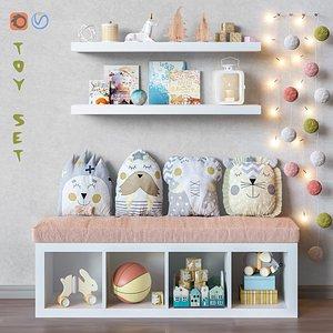 set furniture ikea toys 3D