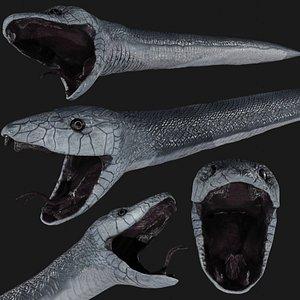 black mamba snake 3D model