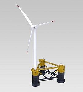 3D offshore wind turbine