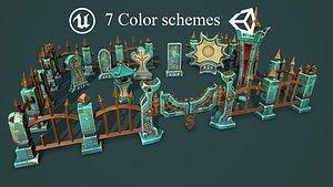 3D Fantasy cemetery 2 model