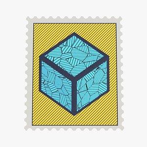 post stamp 3D model