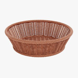 3D model wicker basket