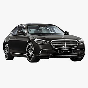 2021 mercedes-benz s-class short 3D model