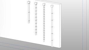 3D Rain Gutter 2 - Full Parametric Revit Family model