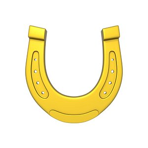 3D Horseshoe Cartoon model