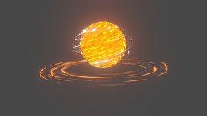 3D fire ball