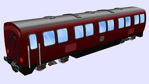 3D long db passenger wagon