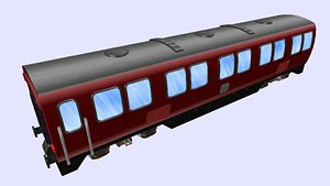 3D long db passenger wagon