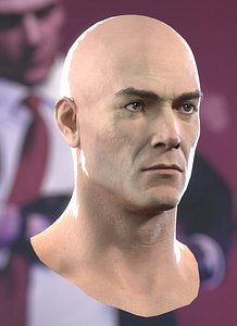 3D Hitman Head model