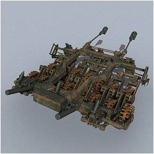 TMT-S tank mine roller 3D