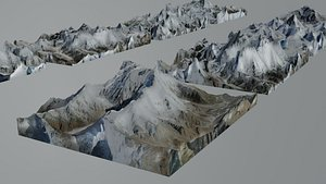 3D Highest Mountains in The World Everest etc