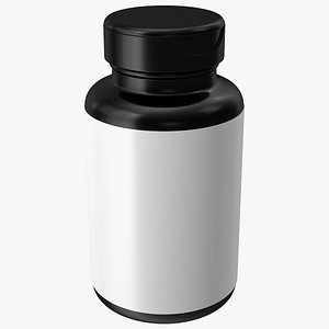3D Vitamin Jar Blank model