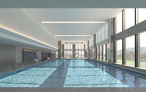 3D model swimming pool