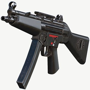 3D Mp5A2 - Mobile Ready Low Poly model