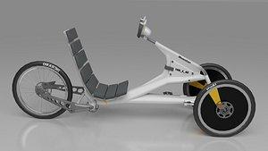 3D Monster Silver Trike Bike