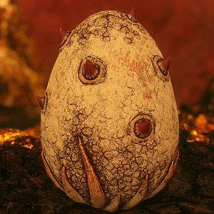 handpainted dragon egg - 3D model
