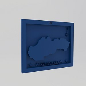 Slovakia-Szlovakia Map Print model