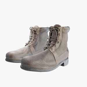 3D model boots hiking