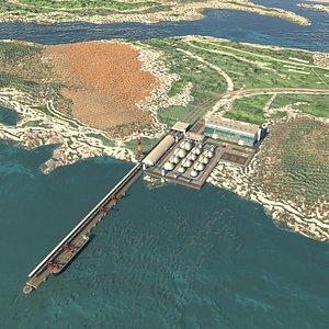 terminal pier industrial model