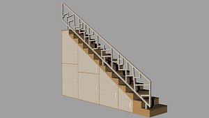 3D stair wood