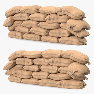 Sandbag Wall 3D