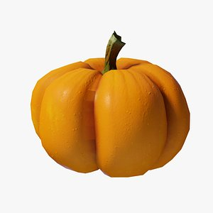 3D Cartoon Pumpkin model
