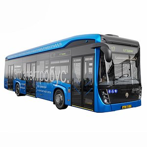 3D electrobus kamaz bus