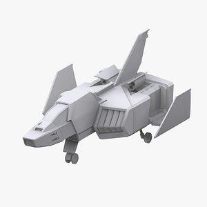 3D gundam federation corefighter