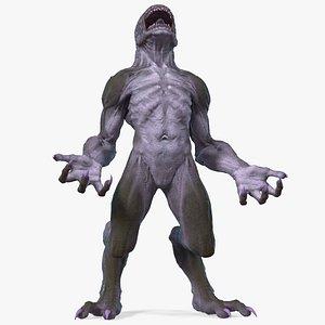 monster beast standing pose 3D model