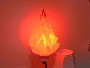 3D lamp flame lampshade model