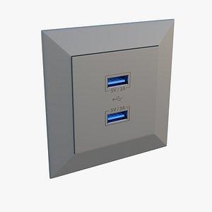 USB Socket 3D model