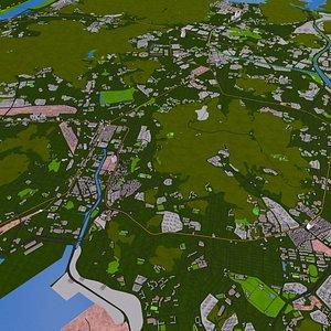 3D city busan korea