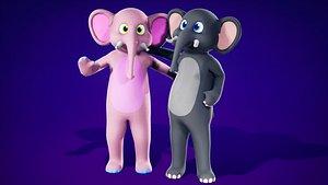 FurSuit Elephant 3D model