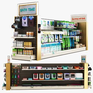 Pet Shop - Bath Litter And Care Equipments 3D model