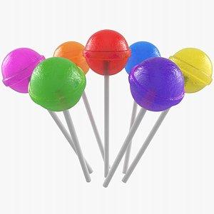 lollipop candy sweet 3D model